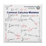 Common Calculus Mistakes Tile Coaster