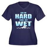 Go In Hard Women's Plus Size V-Neck Dark T-Shirt