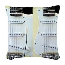Guitar FF (Electric) Woven Throw Pillow