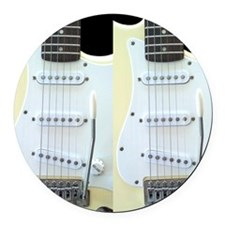 Guitar FF (Electric) Round Car Magnet