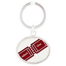 Admit One Ticket Stub Oval Keychain