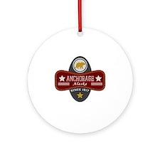 Anchorage Nature Marquis Round Ornament
