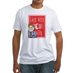 LNG logo & Jack the Late Nite Fitted T-Shirt