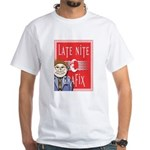 LNG logo & Jack the Late Nite White T-Shirt