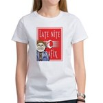 LNG logo & Jack the Late Nite Women's T-Shirt