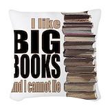 I like big books and i cannot lie Throw Pillows