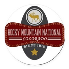 Rocky Mountain Natural Marquis Round Car Magnet