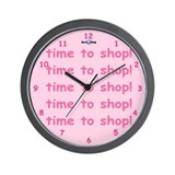 Time to shop! - Wall Clock