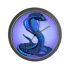PillowA Big Blue Snake Wall Clock