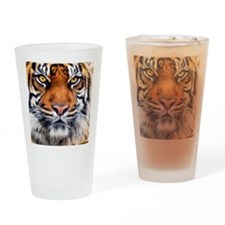 Siberian Tiger Male Drinking Glass