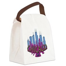 Chicago Skyline Newwave Cool Canvas Lunch Bag