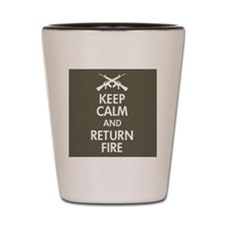 Rifles crossing Keep Calm Shot Glass