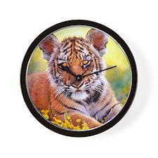 Tiger Baby Cub Wall Clock
