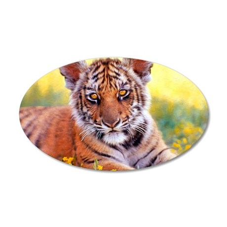 Tiger Baby Cub 35x21 Oval Wall Decal