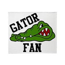 Gator Fan Throw Blanket