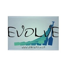 Evolve Sticker Rectangle Magnet