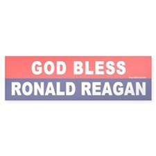Bumper Sticker:God Bless Ronald Reagan