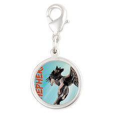 My German Shepherd Dog Silver Round Charm