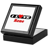 I Love Rene Keepsake Box