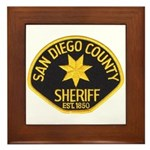 San Diego Sheriff Framed Tile