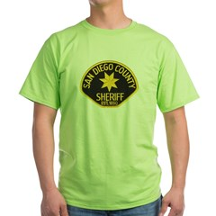 San Diego Sheriff Green T-Shirt
