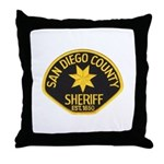 San Diego Sheriff Throw Pillow