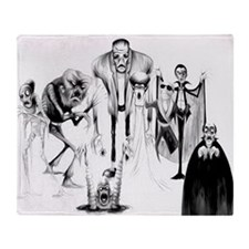 Classic movie monsters Throw Blanket