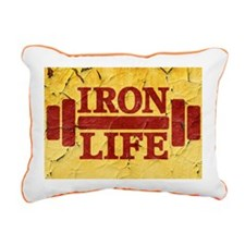 Iron Life Rectangular Canvas Pillow