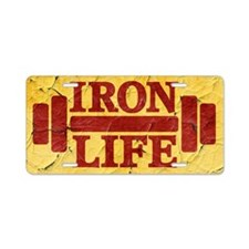 Iron Life Aluminum License Plate