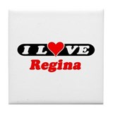 I Love Regina Tile Coaster