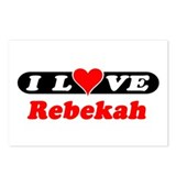 I Love Rebekah Postcards (Package of 8)
