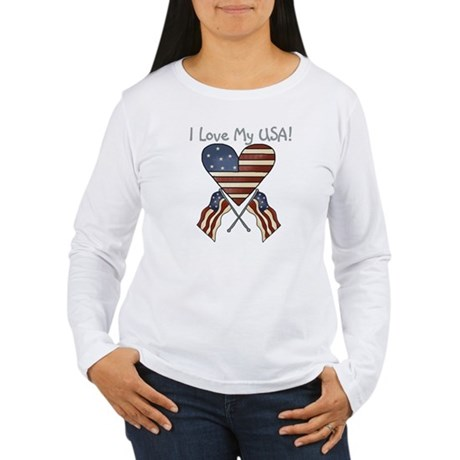 I Love My USA Women's Long Sleeve T-Shirt