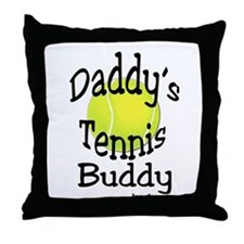 DADDY'S TENNIS BUDDY THROW PILLOW - BLACK