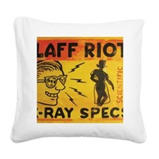 Xray Spex Laff Riot by Elliot Square Canvas Pillow