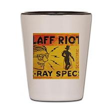 Xray Spex Laff Riot by Elliott Mattice Shot Glass