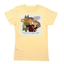 Proud to be a Loggers Wife - Brunette Girl's Tee