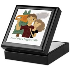 Proud to be a Loggers Wife - Brunette Keepsake Box
