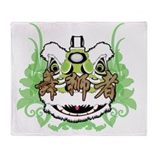Hok San Lion Green Throw Blanket