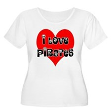 I love Pirates T-Shirt