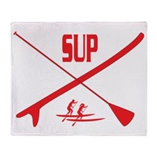 SUP Red Throw Blanket