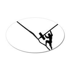 Sisyphus Olympic Tenacity 35x21 Oval Wall Decal