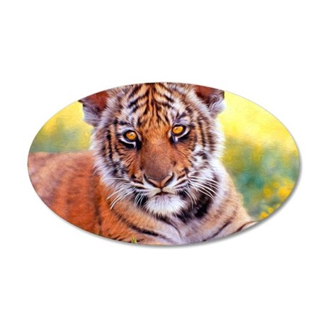 Tiger Baby Cub 20x12 Oval Wall Decal