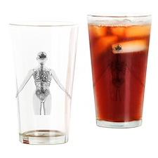 Upper body anatomy Drinking Glass