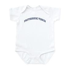 Staffordshire Terrier (blue) Infant Bodysuit