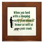 Carry Your Crook Framed Tile