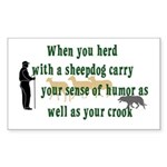 Carry Your Crook Rectangle Sticker