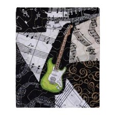 green-strat-kindle Throw Blanket