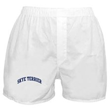 Skye Terrier (blue) Boxer Shorts