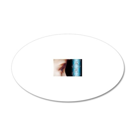 Young child's face and DNA m 20x12 Oval Wall Decal