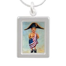 Nicolas Sarkozy: Little  Silver Portrait Necklace